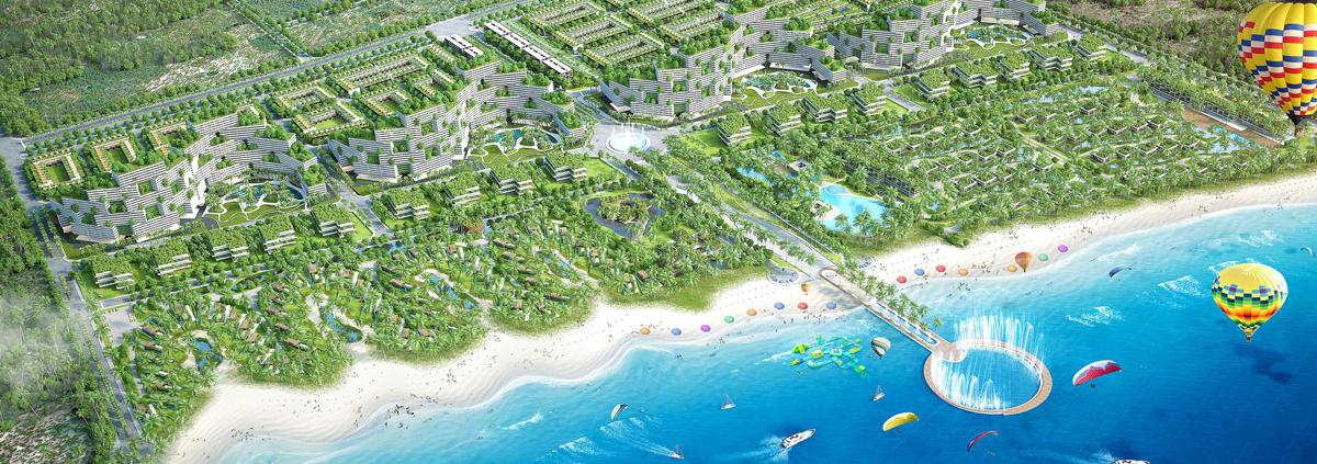 Phối cảnh bờ biển cùng những môn thể thao mạo hiểm thú vị - Câu chuyện Thanh Long Bay
