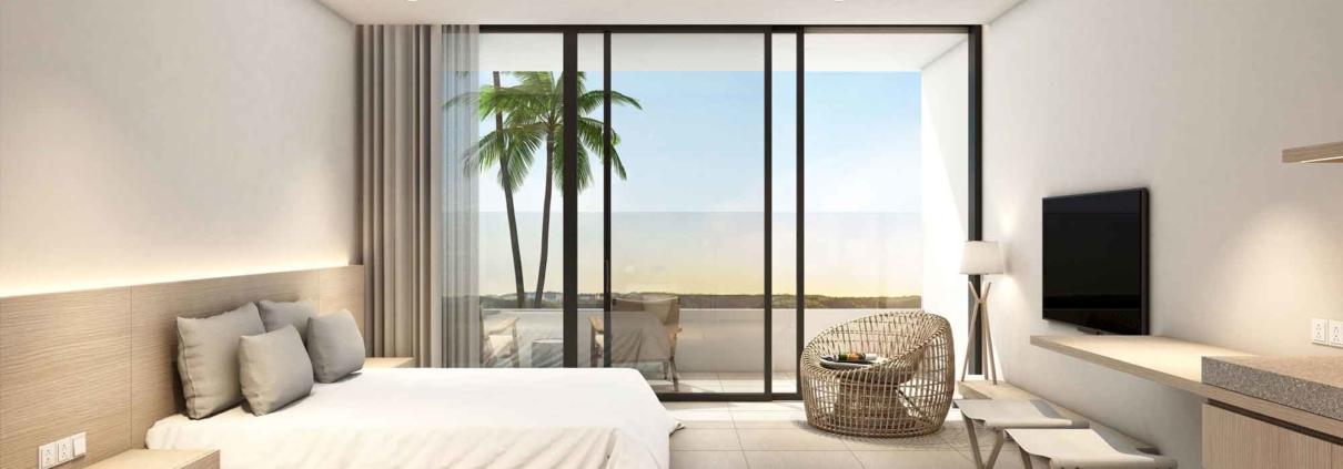 Phối cảnh bên trong căn hộ Wyndham Coast 5 sao của dự án Thanh Long Bay
