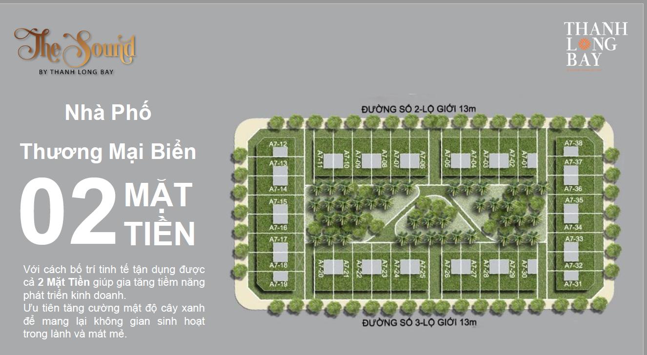 CHỈ TỪ 1,5 TỶ ĐỂ SỞ HỮU CĂN NHÀ PHỐ THANH LONG BAY VỚI HAI MẶT TIỀN ĐỘC ĐÁO - Dự án Thanh Long Bay
