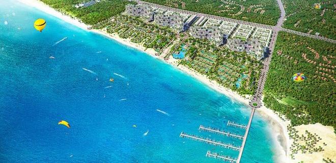 Nằm trên cung đường biển có thể được xem là đẹp nhất Việt Nam, Thanh Long Bay là một trong những dự án có quy mô lớn với diện tích trên 90 héc ta