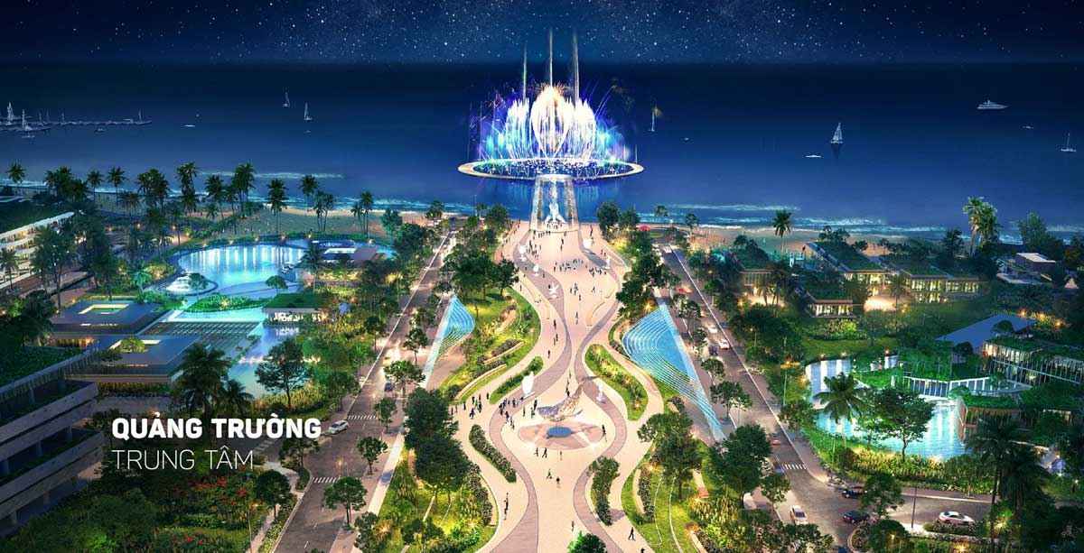 Quảng trường Trung Tâm tại Thanh Long Bay - Bình Thuận