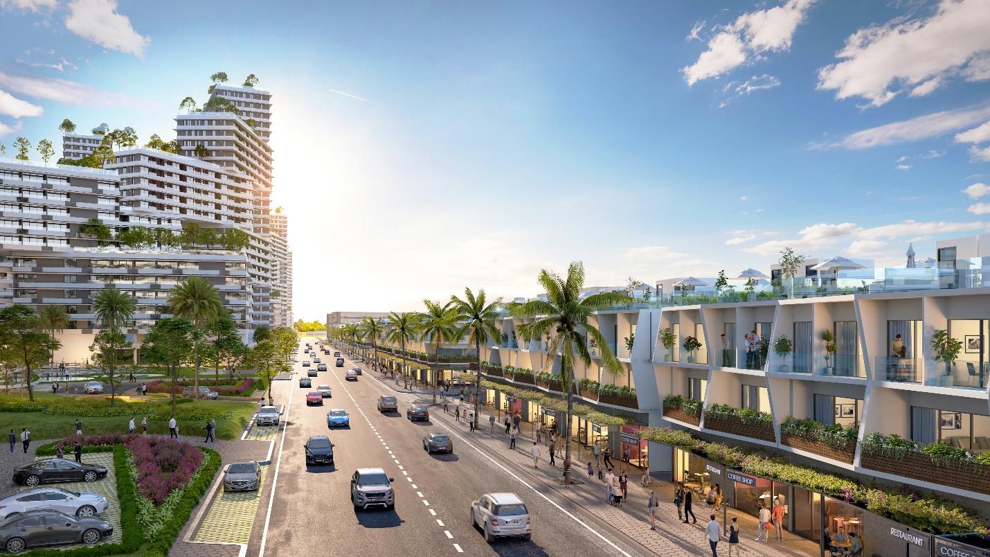 Căn nhà phố sở hữu 2 view biển tại Thanh Long Bay