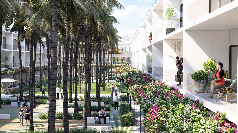 Căn nhà phố sở hữu view biển với không gian xanh tươi mát tại Thanh Long Bay
